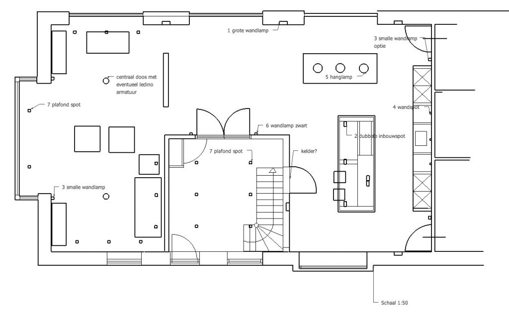 Voorbeeld lichtplan voor woonboerderij
