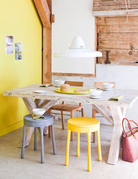 geel geschilderd